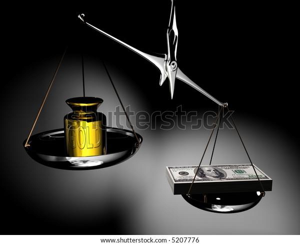 money & gold on balance