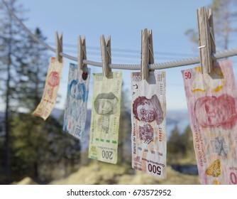 Money Laundering Mexico - 3D illustration