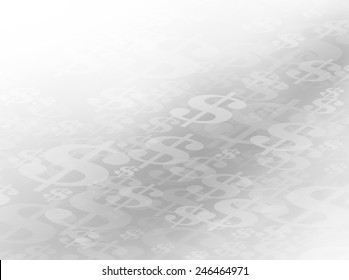 The Money Path. Abstract Flowing or Moving Gray Scale Dollar Symbols Background Path. Perfect for all Financial Communications. Plenty of copy space.