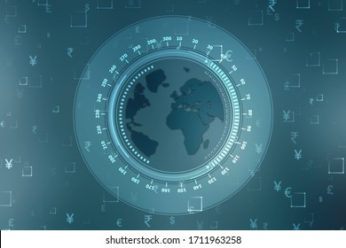 Money transfer. Global Currency. Stock Exchange, Financial Background,Stock market concept