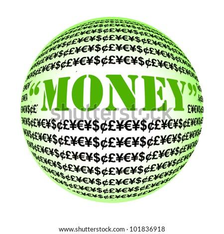 money word globe collage on white stock illustration 101836918