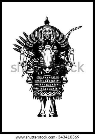 mongolian horseman stock illustration 343410569 shutterstock Mongolian Traditional Clothing Warrior Men mongolian horseman