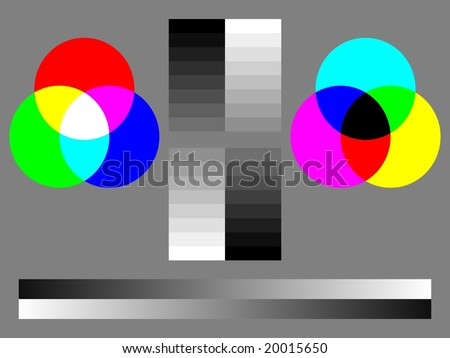 Royalty Free Stock Illustration Of Monitor Calibration Color Test