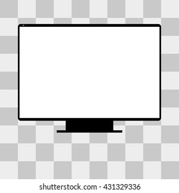 monitor TV Screen on transparent background
