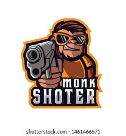 Monk Shoter E Sports Logo