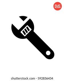 Monkey wrench Icon Flat Isolated Illustration