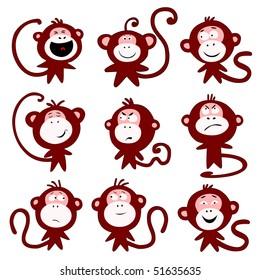 Monkeys emotions - raster