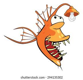 Monkfish Deep-water fish Cartoon
