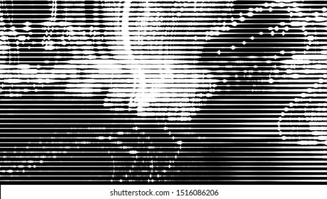 Monochrome abstract background. Black and white pattern. Halftone texture.