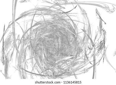 Monochrome abstract fractal illustration. Future technology background. Design element for book covers, presentations layouts, title and page backgrounds. Digital collage. Raster clip art.