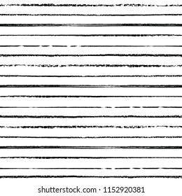 Monochrome black and white hand drawn mixed media striped seamless pattern on white background. Great for teachers, classrooms, children, art, backgrounds, paper, scrapbooking, fabric, etc.