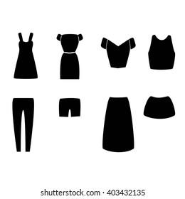 Monochrome Clothes Icons symbol