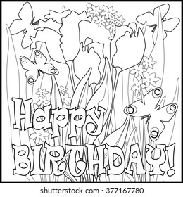 134 Best Happy birthday coloring pages images | Birthday coloring ... | 280x260