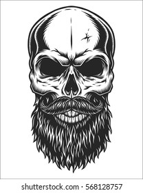 Beard Skull Images Stock Photos Vectors Shutterstock