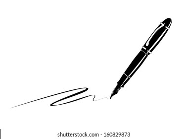 ink pen silhouette high res stock images | shutterstock  shutterstock