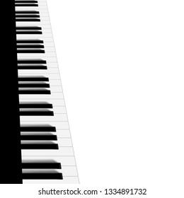 Monochrome Piano Background