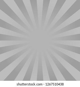 Monochrome rays background. Comics, pop art style.