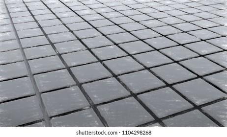 monochrome tiles - CG image