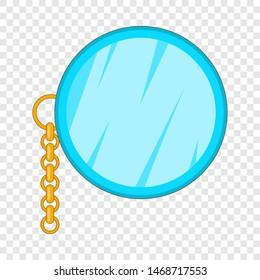 Monocle icon. Cartoon illustration of monocle icon for web design