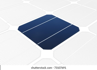 mono-crystalline solar cell against a drawing