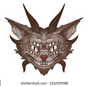 Monster cat head