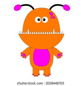 Monster design to celebrate Halloween day. Illustration. Happy Halloween.