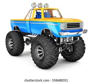 Monster Truck. 3d image isolated on white