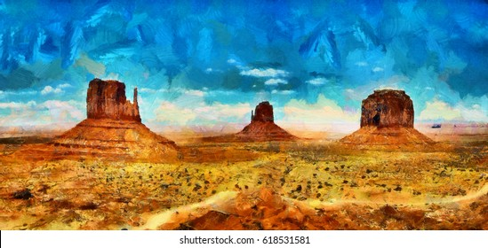 Monument valley in Arizona oil painting