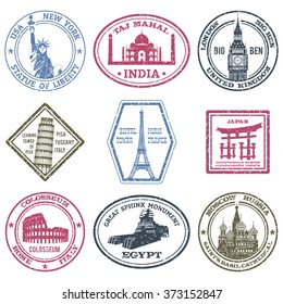Monuments Stamps Set