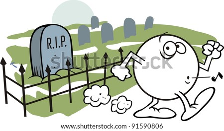 Moodie Character Whistling Past A Graveyard