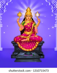 Mookambika is the Hindu goddess who is representing Adi Parashakti, who is known simply as Shakti. She is often depicted with three eyes and four arms with a divine disc and conch.