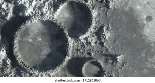 Moon Crater Closeup Martian Outer Space 3D Rendering