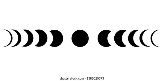 The moon phase astronomy icon on white background.
