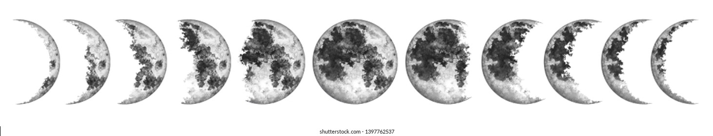 Moon Phases Images Stock Photos Vectors Shutterstock