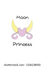 Moon princess Sailor Moon pink and yellow