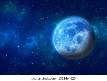 Moon in space. Elements of this image furnished by NASA.