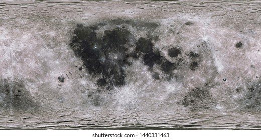 Moon surface in expanded view. 3D rendering