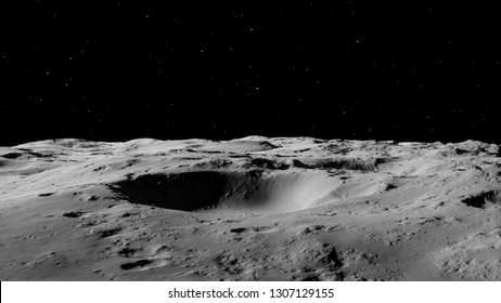 Moon surface / Realistic moon / The Moon is an astronomical body that orbits planet Earth, being Earth's only permanent natural satellite. Elements of this image furnished by NASA