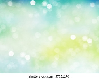 Morning fresh light bokeh wallpaper.Easter 8 march holiday spring background.Green yellow sunlight natural backdrop.