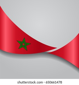 Moroccan flag wavy abstract background. Raster version.