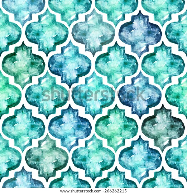Moroccan Style Tiles Inspired Seamless Pattern Stock Illustration Images, Photos, Reviews