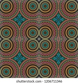 Moroccan tile style seamless pattern for textile, ceramic tiles, wallpaper, fabric, scrapbook and gift wrapping paper. Colorful and decorative for fashion design and homeware