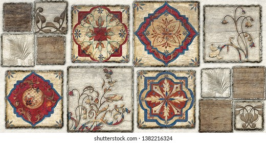 Moroccan tiles, ornaments, or Brown Colored wall tiles Decor For home , wall decor on brown beige marble,it also can be used for wallpaper, linoleum, textile, webpage.