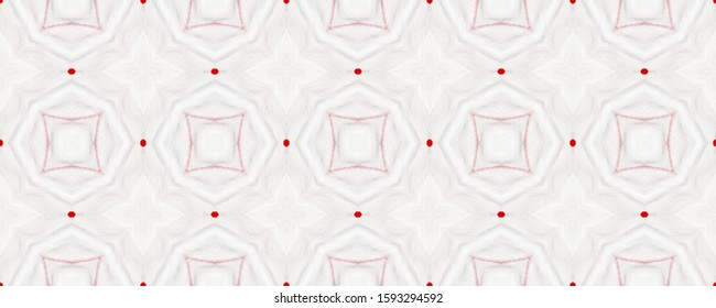Moroccan Zellige. Graphic Tableware Texture. Medallions Repeat. Grey, White, Red Floral Geo Tiling. Abstract Fabric Ornament. Tunisian Floor Tile. Digital Porcelain Mosaic.