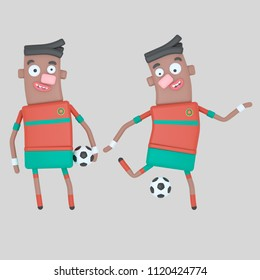 Morocco  soccer player . 3d illustration