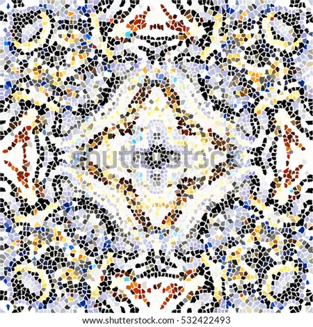 Mosaic Colorful Artistic Pattern Wallpapers Ceramic Stock