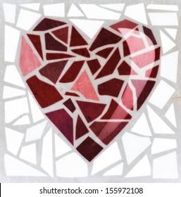 Mosaic heart - raster version