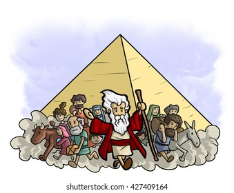 Moses leads the exodus