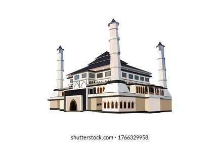 Mosque Cilodong Purwakarta Indonesia | Inkscape