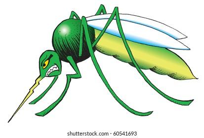 Mosquito cartoon West Nile virus